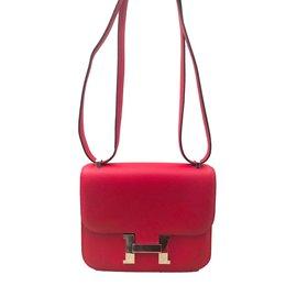Hermès-Sac Hermes Constance 18 Rouge-Rouge