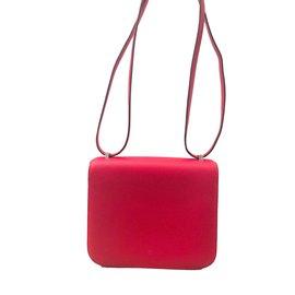 Hermès-Hermes bag Constance 18 Red-Red