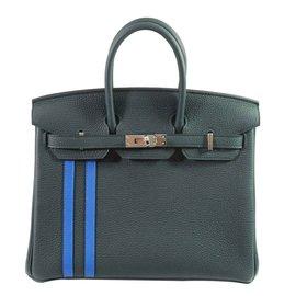 Hermès-Birkin 25 Officier-Green