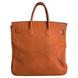 Hermès-Haut A Courroies Birkin 40-Orange