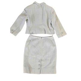 Chanel-Skirt suit-Light blue