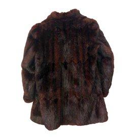 Vintage-Manteaux, Vêtements d'extérieur-Marron