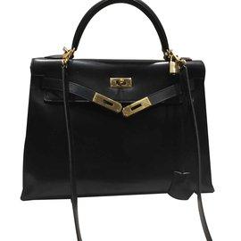 Hermès-Kelly 32. sellier-Noir