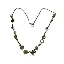 Aridza Bross-Colliers longs-Multicolore,Vert