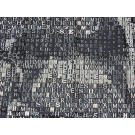 Hermès-HERMES Carré 90 CHEVAL DE CARACTERE-Noir