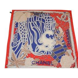 Chanel-CHANEL Carré LION en 100% soie-Multicolore