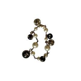 Autre Marque-Bracelet perles.-Doré