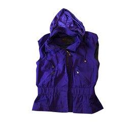 Louis Vuitton-Manteaux, Vêtements d'extérieur-Violet