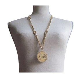 Céline-Celine long necklace-Golden