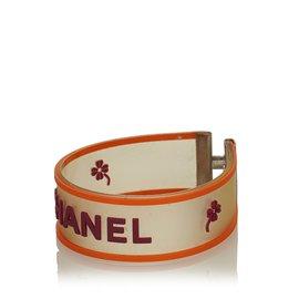 Chanel-Bracelet avec logo-Multicolore,Orange