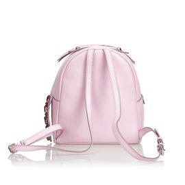 Fendi-Mini sac à dos en cuir-Rose