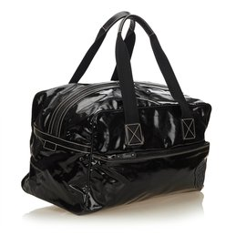 Gucci-Sac de voyage en toile enduite-Noir