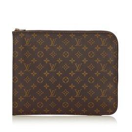 Louis Vuitton-Monogram Poche Document-Brown