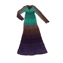 Missoni-Robe longue longue-Multicolore
