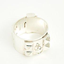 Hermès-collier de chien medor silver-Argenté