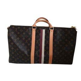 Louis Vuitton-Keepall Bandouliere «Mon monogram «-Marron foncé