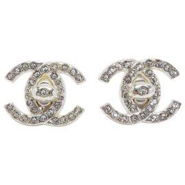 Chanel-CC SILVER RHINESTONE-Argenté