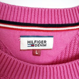 Tommy Hilfiger-Comme neuf Tommy Hilfiger Pull en tricot rose Taille L-Rose
