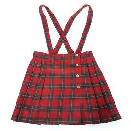 Cacharel-CACHAREL Jupe plissée écossaise rouge Taille 6 -7 ans-Rouge