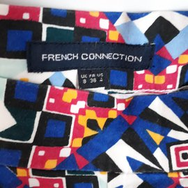 French Connection-French Connection Pantalon Slim Taille UK8 FR36 US4-Bleu