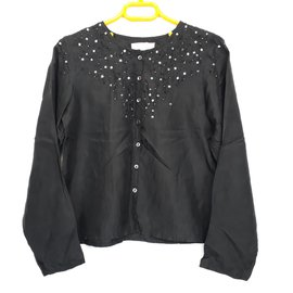 Escada-Escada Silk Blouse Size 8 YO-Black