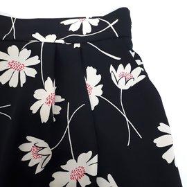 Hallhuber-Hallhuber jupe droite poches Taille 42-Noir