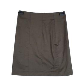 Filippa K-Filippa K Mini Pencil Wrap Around Skirt Size S-Khaki ... e2bae7d3ccabd