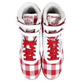 Reebok-Reebok Classic Freestyle Hi Baskets Montantes Taille 37.5-Rouge