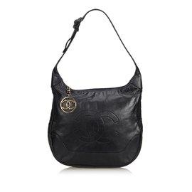 Chanel-Sac Hobo En Peau D'Agneau-Noir