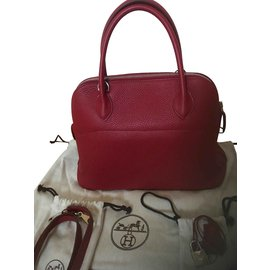 Hermès-Sac Bolide 31 Hermès Rouge Garance-Rouge