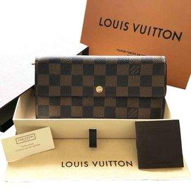 Louis Vuitton-portefeuille damier ebene-Marron clair,Marron foncé