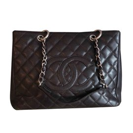 Chanel-Grand shopping-Marron