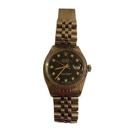 Rolex-Oyster perpetual Date Just Diamond-Argenté