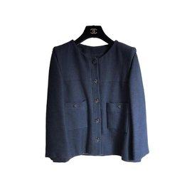 Chanel-Chanel jackket-Navy blue
