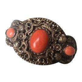 Autre Marque-Bracelets-Argenté,Orange,Corail