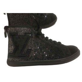 Louis Vuitton-Sneakers femme Louis Vuitton-Gris anthracite