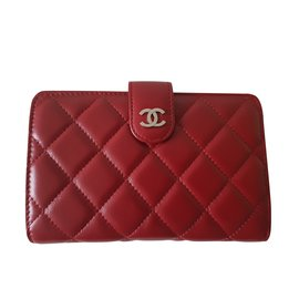 Chanel-Portefeuille Chanel timeless neuf-Rouge