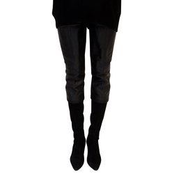 Chanel-Cuissardes maxi bi matière-Noir