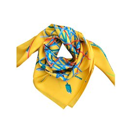 Chanel-SCARF CHANEL SILK-Yellow