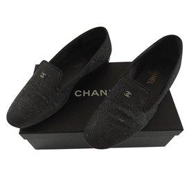 Chanel-Flats-Dark grey