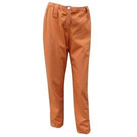 Hermès-Pants, leggings-Orange