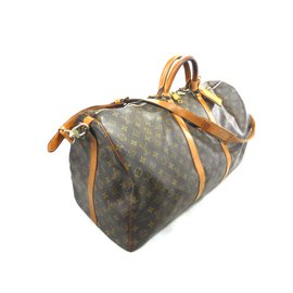 Louis Vuitton-KEEPALL 60 BANDOULIERE MONOGRAM-Marron