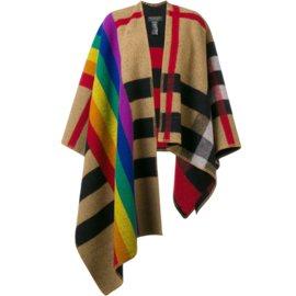 Burberry-Rainbow Vintage Check poncho-Multicolore