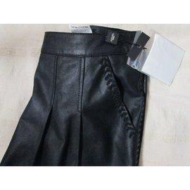 Weekend Max Mara-Jupe noir cuir-Noir