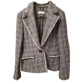 Isabel Marant Etoile-Blazer Tweed-Gris