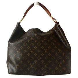Louis Vuitton-Sully MM Monogram-Marron,Beige,Marron clair,Marron foncé