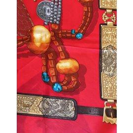 Hermès-Scarves-Red