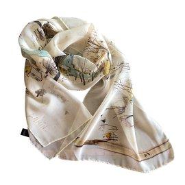 Autre Marque-étole mousseline de soie paysage reproduction G. Damin  130 29cm- ... 2115d4eff7b