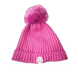 Moncler-Superbe bonnet Moncler authentique-Violet