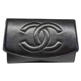 Chanel-PORTE Monnaie Chanel-Noir